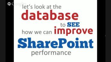 Database Configuration for Maximum SharePoint Performance
