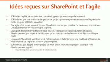 [FRENCH] Agilité et SharePoint. Incompatible? On gage que non!