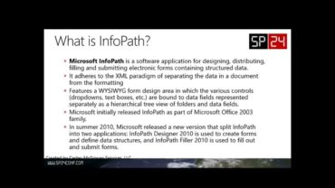 Intro to InfoPath