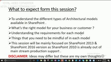 Webinar: How to choose the correct SharePoint architectural model