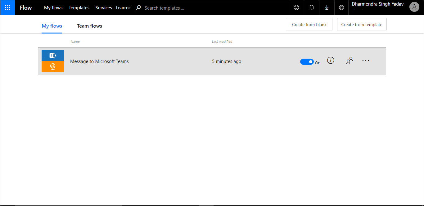 How to alert microsoft teams from a sharepoint list with flow you can check the created flow by clicking on see your flow menu item this flow should be associated to the list and appears in my flows tab as depicted 1betcityfo Gallery