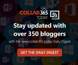 Collab365 Today – Keep your finger on the Office 365 Pulse