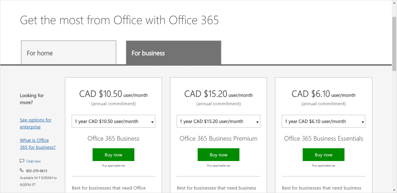What can I get with Office 365?
