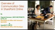 An Introduction to SharePoint Communication sites in SharePoint Online