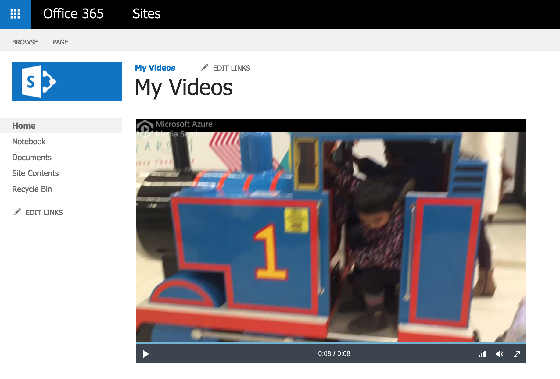 How to play an Office 365 Video using Azure Media Player and