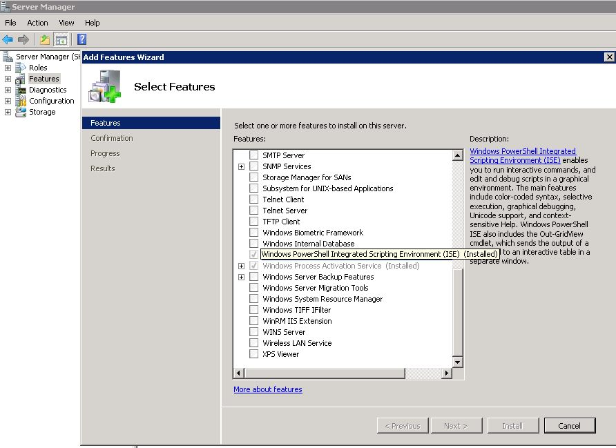 Installing PowerShell Integrated Scripting Environment (ISE