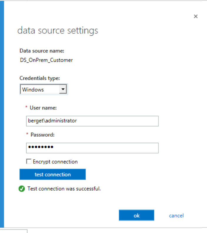 Error Log: Connecting Office 365 To On Premises Data