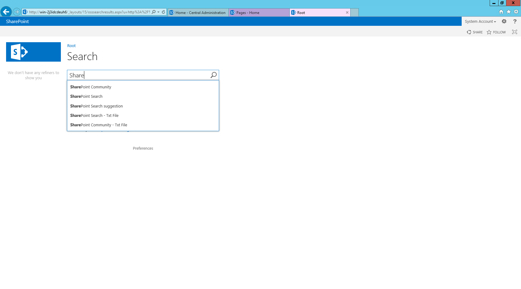 how to configure sharepoint search suggestions using